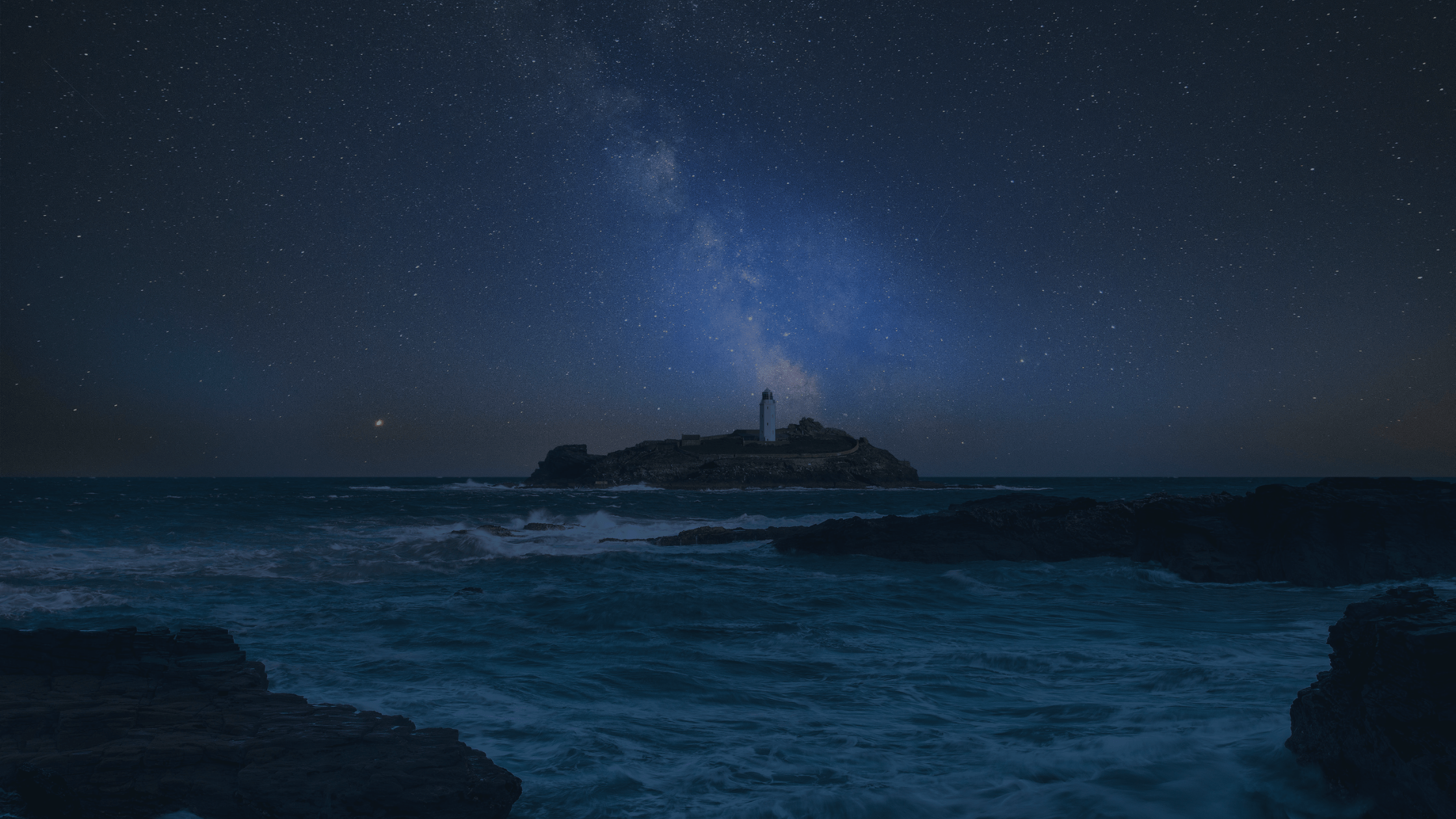 Lighthouse in Cornwall.
