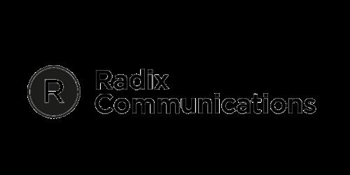 Radix Communications logo.